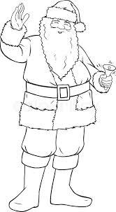 vector illustration coloring santa claus smiling
