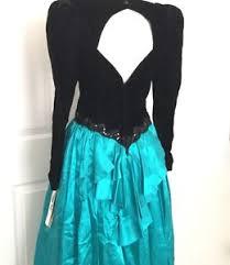 80s prom dress 80s prom dress vintage s m mcclintock green black