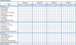 chore list template free templates chore charts this printable blank