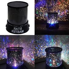 led night light childrens star master sky projector mood lamp kids