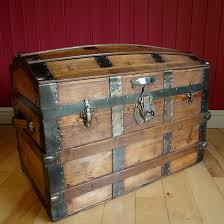 wooden trunk antique victorian trunk dome top steamer trunk vintage storage