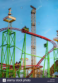 fairground ride at winter hyde park uk