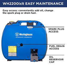 amazon com westinghouse wh2200ixlt portable inverter generator