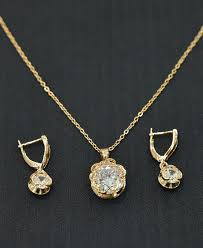 gold set in pakistan women s jewellery gold color white diamond chain set yeacheez