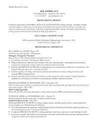 Medical Coder Resume Sample by Retail Analyst Resume Sales Retail Lewesmr