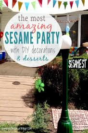 How To Throw A Backyard Party How To Throw A Diy Sesame Street Party That Everyone Will Remember