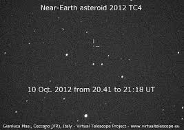 near earth asteroid 2012 tc4 coming very close this october we