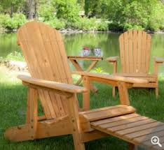 Adirondack Chair With Ottoman Pair Of Reclining Adirondack Chairs Matching Table For 200 Shipped