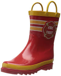 Wildfire Boots For Sale by Amazon Com Puddle Play Kids Boys U0027 Fire Chief Character Printed