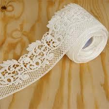 ribbon trim 5 yards 2 75 white fanciful fiddlehead crocheted heavy diy lace