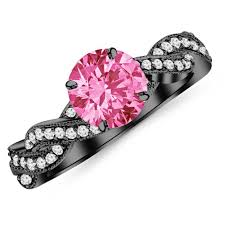 black and pink engagement rings black and pink engagement rings