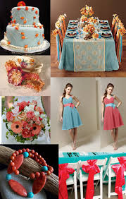 weddingzilla wedding inspiration board coral and turquoise