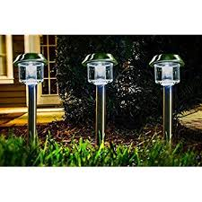 Brightest Solar Powered Landscape Lights - amazon com highgate solar accent led path lights stainless