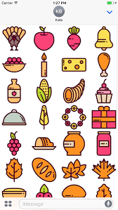 thanksgiving stickers on the app store