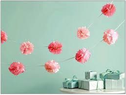 10 pom garland wedding decor bridal shower garden party