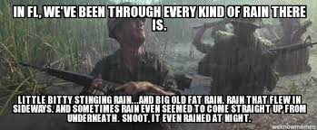 Forrest Gump Rain Meme - gump rain in fl we ve been through every kind of rain there is