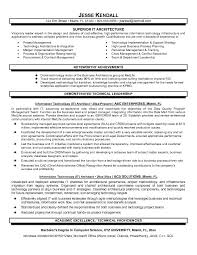 superior it architect resume template sample with achievements and