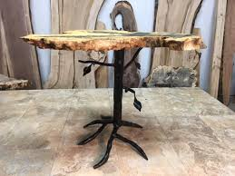 metal end table legs hand forged steel accent table legs end table base custom table