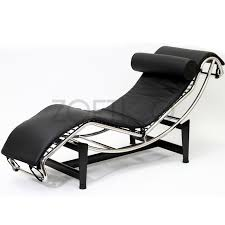 Chaise Lounge Chair Le Corbusier Style Chaise Lounge Chair In Leather Multiple Colors