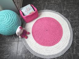 Modern Round Rugs by Crochet Round Rug Teepee Round Rug Baby Play Mat Nursery