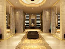 Beige Bathroom Ideas Beige And Bronze Bathroom Soaking Bathtubs With Glass Barriers