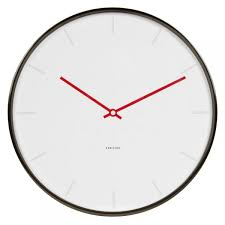 karlsson thin line wall clock minimalist wall clock