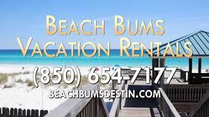 vacation rentals in destin fl beach bums vacation rentals youtube