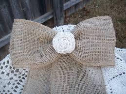 burlap pew decorations burlap pew bows rustic wedding country