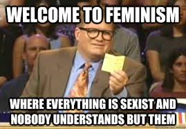 Funny Sexist Memes - welcome to feminism where everything is sexist and nobody