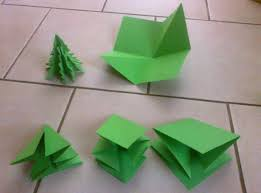origami christmas trees writermummy