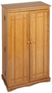 Wooden Storage Closet With Doors Cd Storage Cabinet With Doors Foter