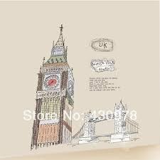 qz733 free shipping 1 pcs england big ben uk london bridge sketch