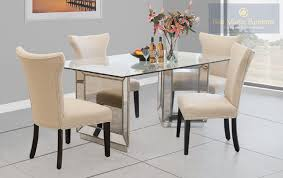 best furniture yj002 mirror with silver rectangular dining set
