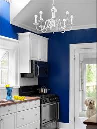 kitchen white kitchen cabinets with dark wood floors blue