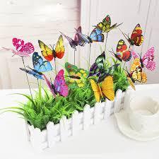 aliexpress buy garden butterflies on sticks deck