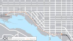 burke gilman trail missing link project transportation seattle gov an illustrated map depicts the burke gilman trail and its one point four mile