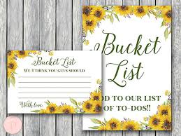 wedding wishes list sunflower summer wedding list printable list