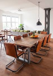 Dining Room Tables Denver Industrial Dining Room With City View Denver Furniture Repair