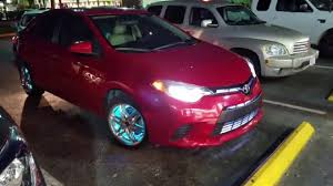 toyota corolla with rims 2016 toyota corolla with grill lights and lights