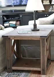 Rustic End Tables And Coffee Tables Rustic X Side Table Plus Coffee Table And End Table And