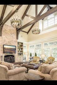 Meritage Hosts Pottery Barn Design Carriage Hill The Creeks Avalon Model Great Room Rustic