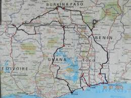 Accra Ghana Map Wheatcroft Overlandrover Westafrica Net