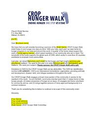 business sponsorship request letter crop hunger walk resources