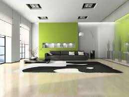 Relaxing Living Room Interior Design With White Green Wall Paint - Relaxing living room colors