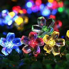 qedertek solar string lights qedertek solar fairy lights 23ft 50 led outdoor blossom flower
