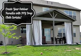 Outdoor Canvas Curtains Drop Cloth Outdoor Curtains Sprinkled Nest