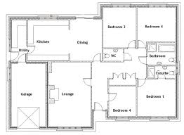 four bedroom floor plans 4 bedroom house plans littleplanet me