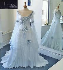 celtic wedding vintage celtic wedding dresses white and pale blue colorful