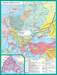 map of vi europe in the second half of vi century byzantium by justinian