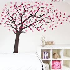 tree wall sticker home design ideas cherry blossom tree with birds in by vinyl impression